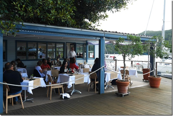 Al fresco dining by the Hawkesbury River, Cottage Point Inn