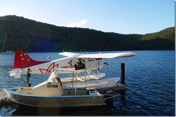 Diners heading home on the seaplane, Cottage Point Inn