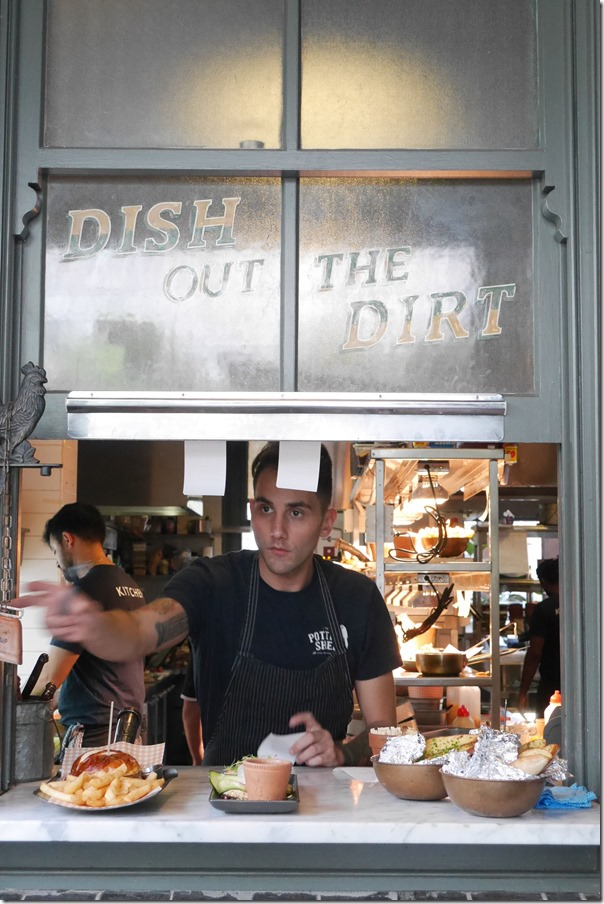 """Dish out the dirt"" -  food from the kitchen"