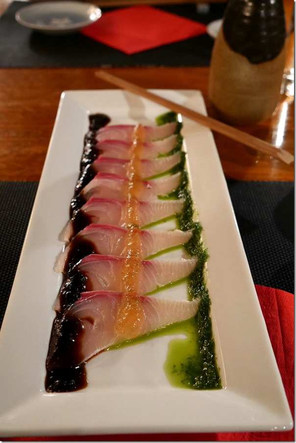 King fish carpaccio $19