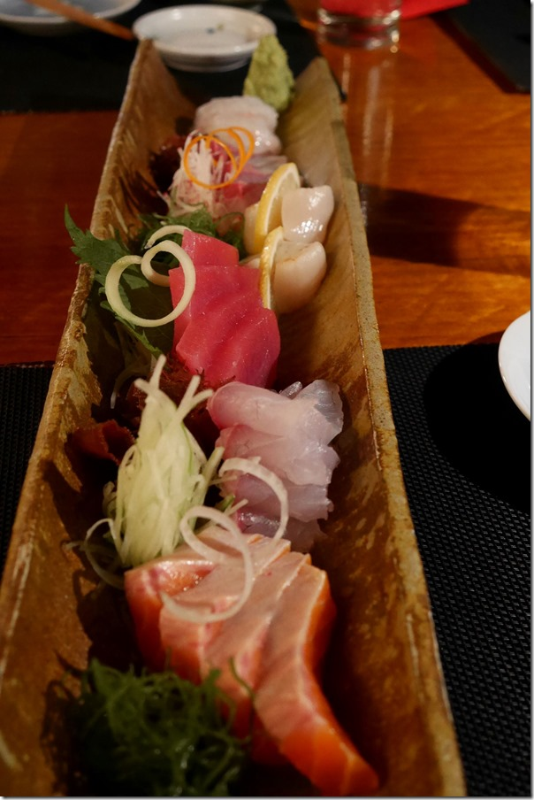 Chef's sashimi special $47.50