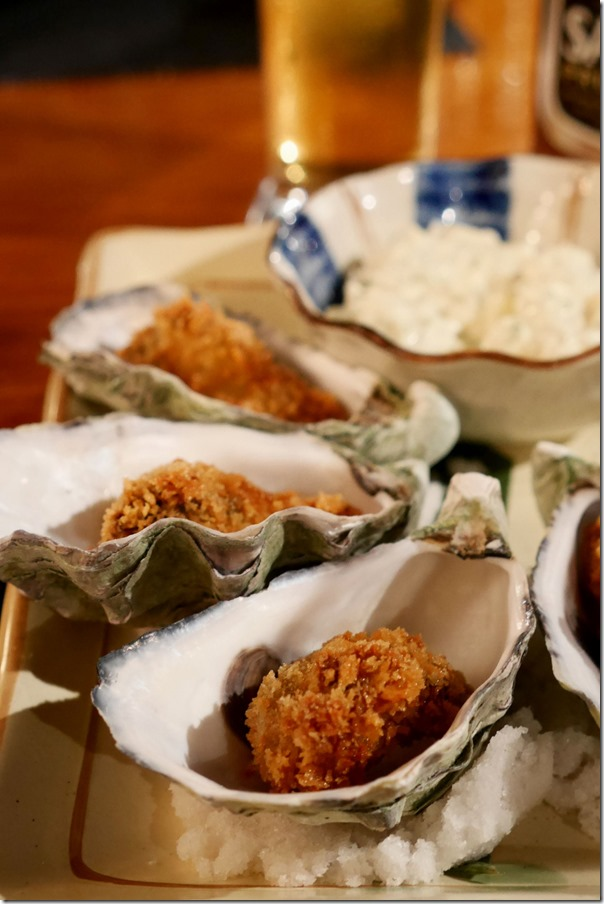 Fried oyster 3 pieces $12