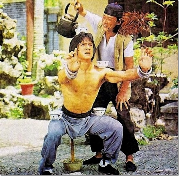 Jackie Chan's training regime in the movie Drunken Master (circa 1978)