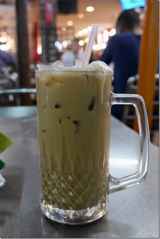 Kopi ais or ice coffee RM2.50 / A$0.85 cents