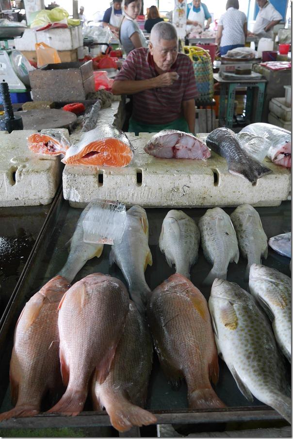 Fish hawker, Imbi Market, Kuala Lumpur