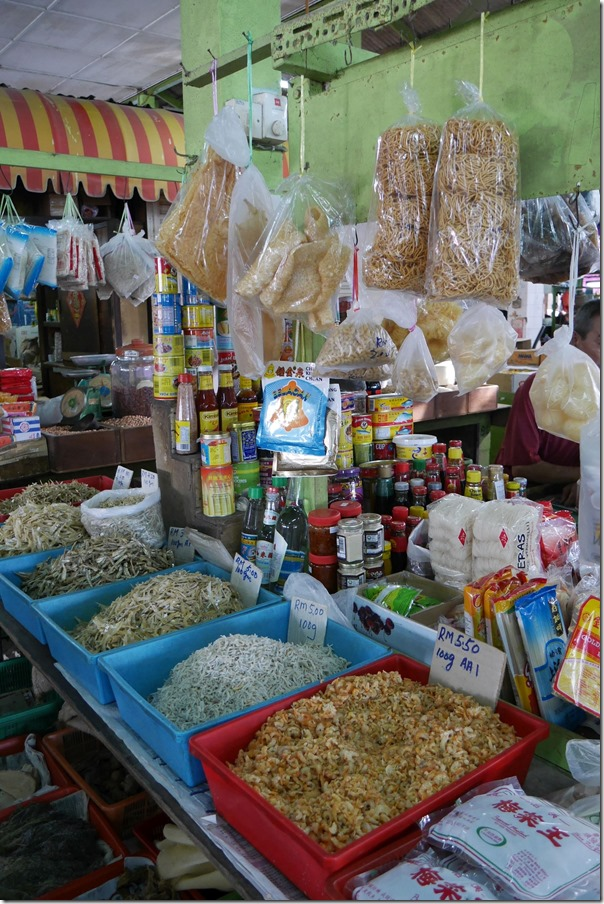 Dried shrimp and anchovies, Imbi Market