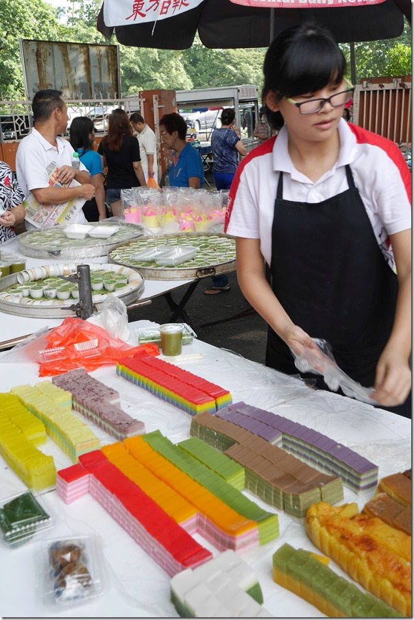 Colourful nyonya cakes, Imbi Market