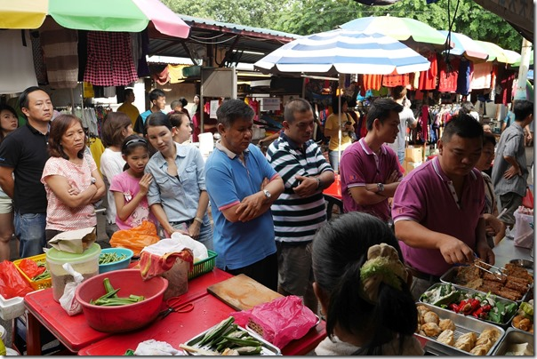 Queuing up for yong tau foo, Imbi Market