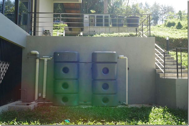 Water tanks for harvesting rain water