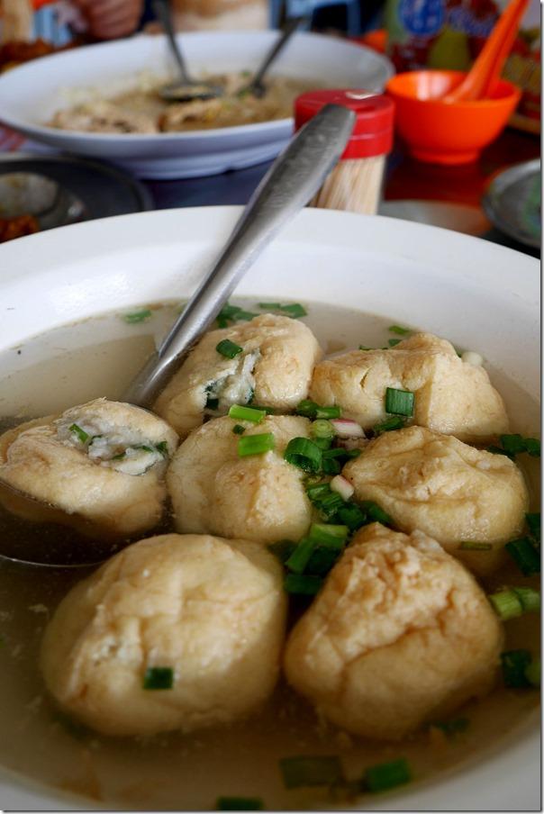 Guangxi style stuffed tofu RM12 / A$4.20