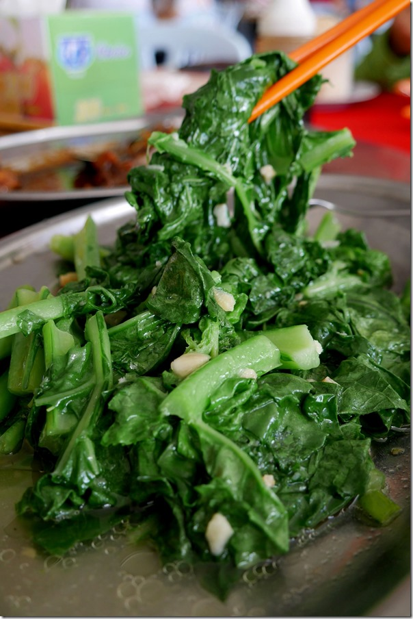 Stir-fried local greens with garlic sauce RM7 / A$2.45