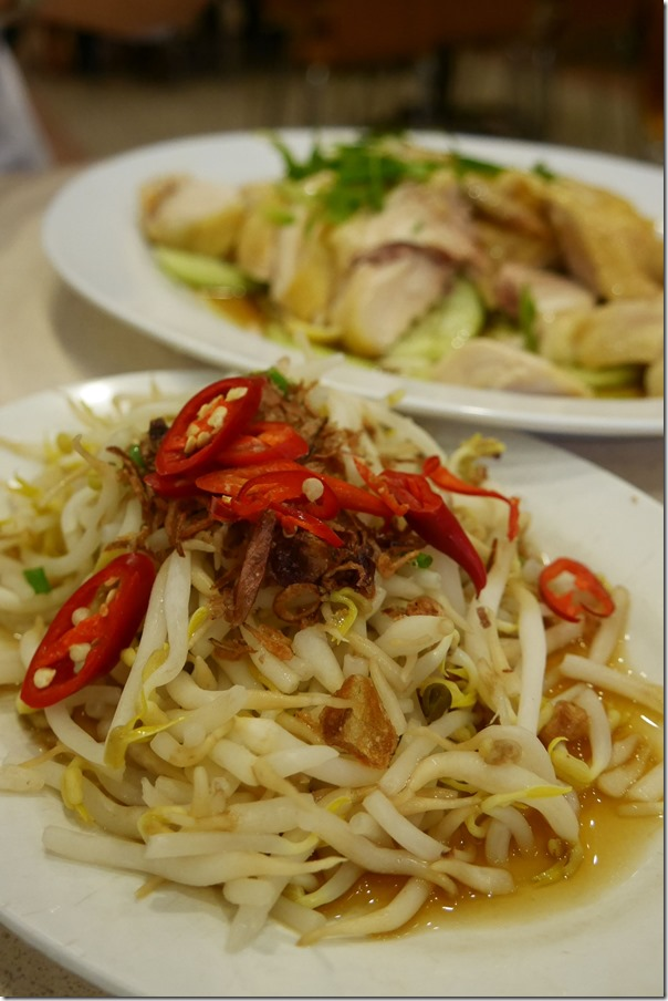Beansprouts with special soy sauce RM6 / A$2.10