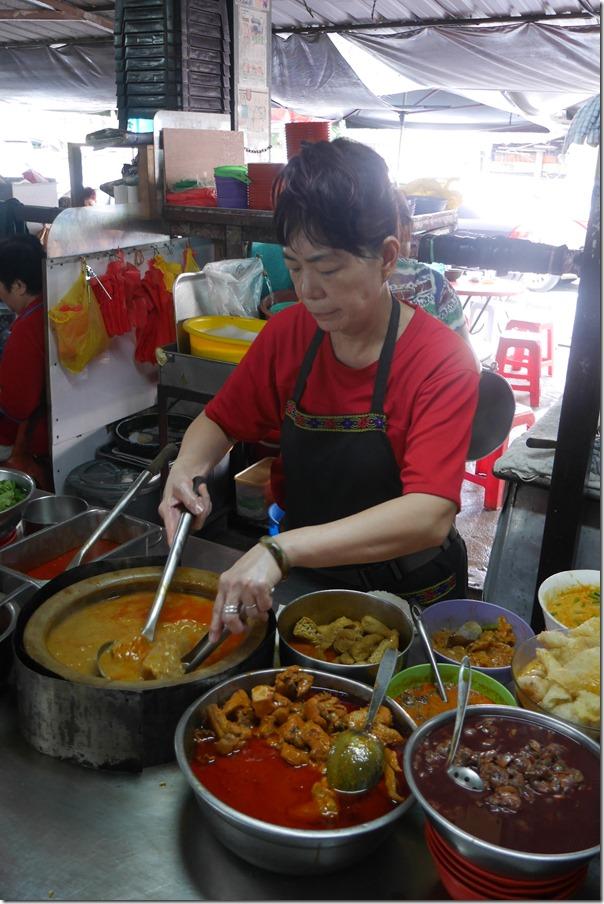 Curry laksa stall, Madras Lane, Kuala Lumpur