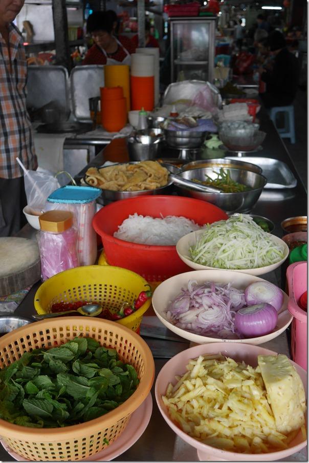 Assam laksa stall, Madras Lane, Kuala Lumpur