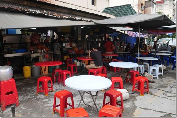 Seating area for food stalls, Madras Lane, Kuala Lumpur