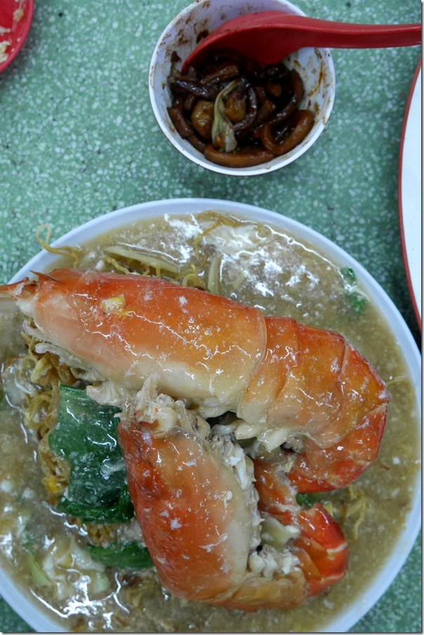Sang har meen or freshwater king prawn noodles RM85 / A$29.80