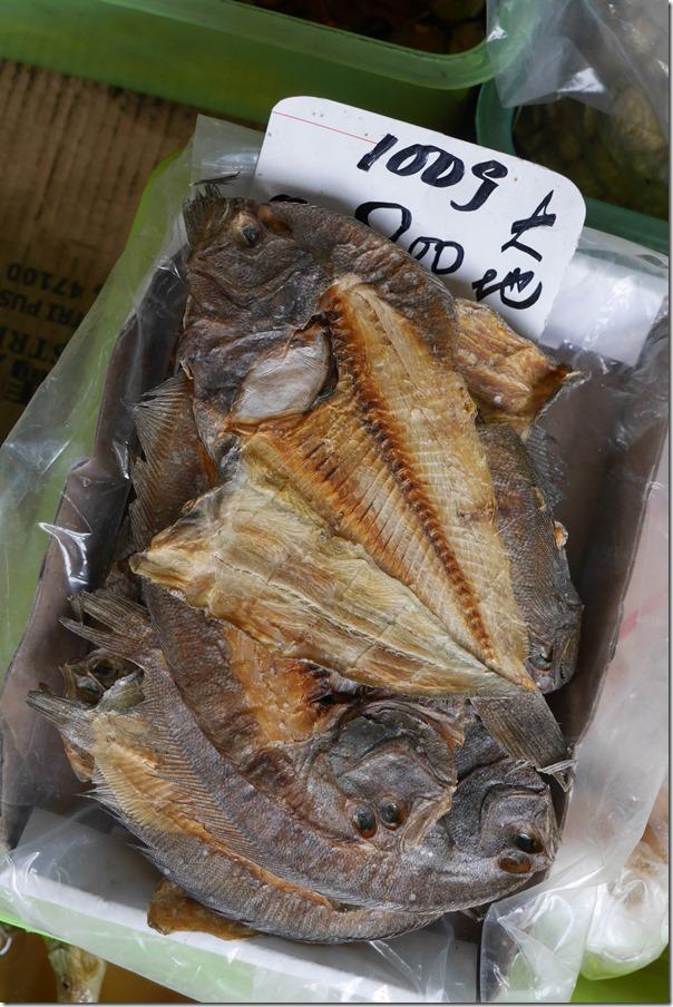 Dried flounder, Imbi Market