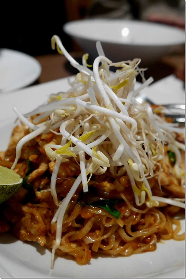 Pad Thai with chicken $12.50