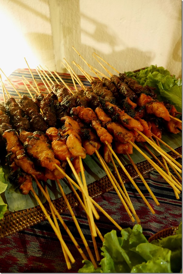 Malaysian chicken and beef satay