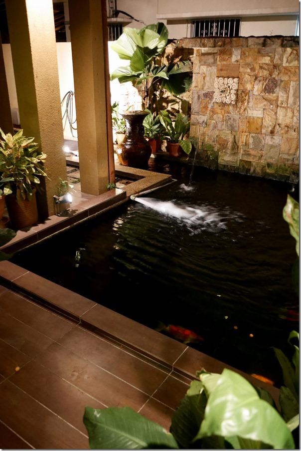 Koi pond at Priscilla's home