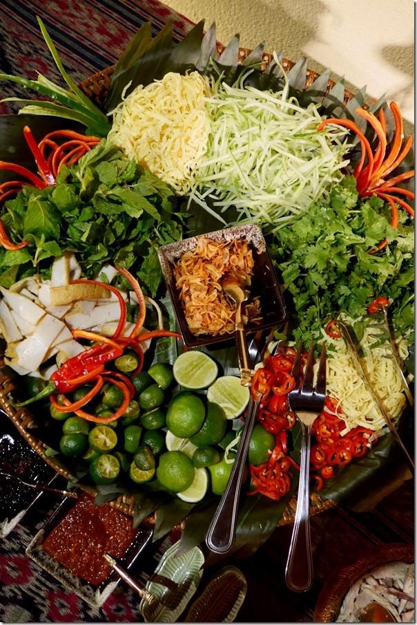 Condiments for Sarawak laksa