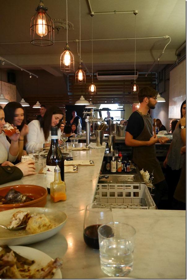 Bar and communal dining, Hartsyard, Newtown