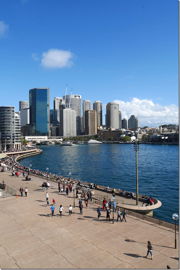 A view of Circular Quay and the city from Sydney Opera House