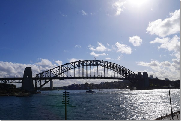 Sydney harbour on a beautiful winter day