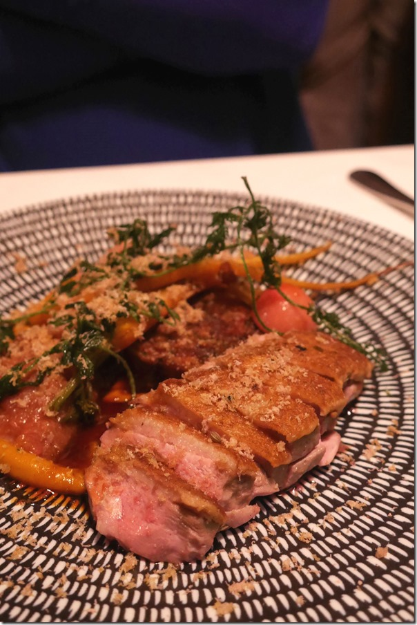 Spice roasted Aylesbury duck breast (A la carte $35)