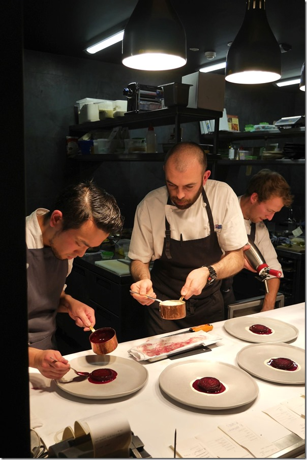 Executive chef Frederico Zanellato & his team at work