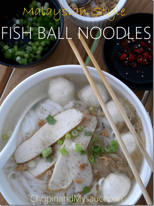 Malaysian style fish ball noodles