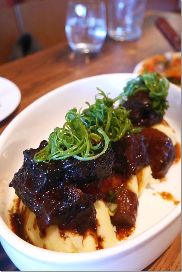 Slow-cooked beef short rib and mash $19