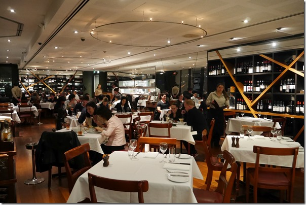 Dining room, Steerson's Steakhouse, King Street Wharf