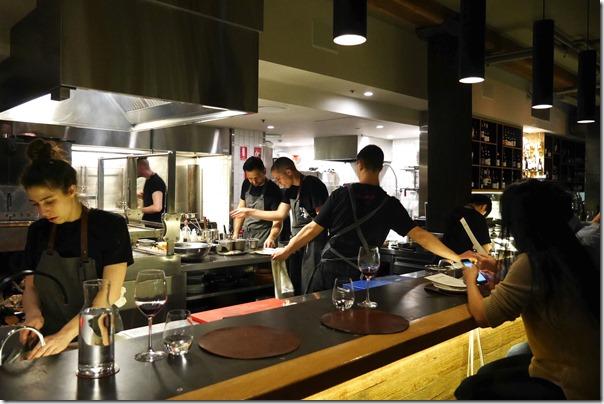 Open kitchen at Firedoor, Surry Hills