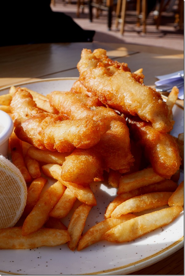 Opera Bar's beer battered fish and chips