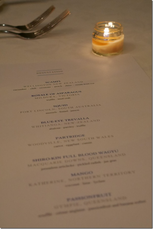 Degustation menu ~ Guillaume, Paddington
