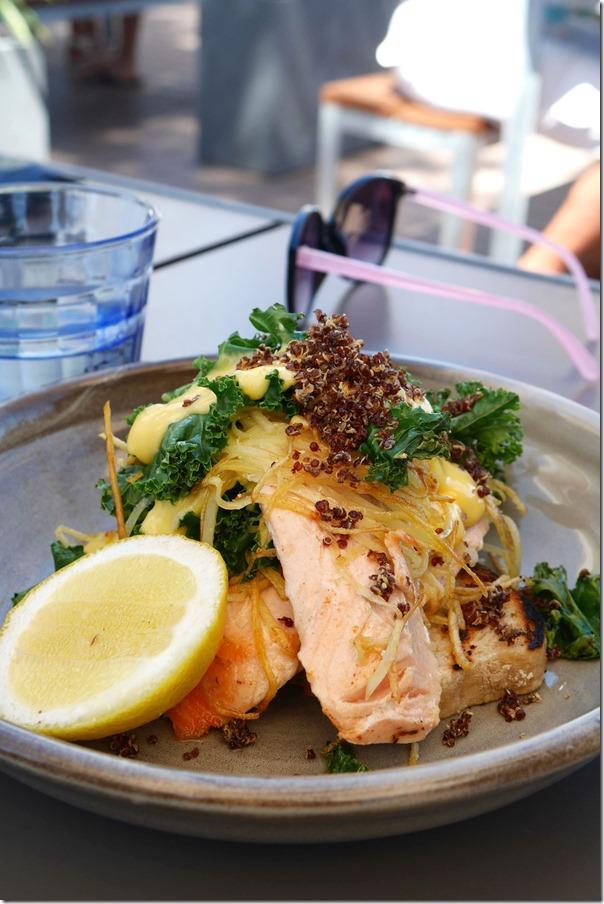 Tasmanian salmon, crunchy potato & kale hash $21