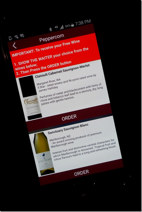 Free-wines.com app ~ Select from either a red or white wine