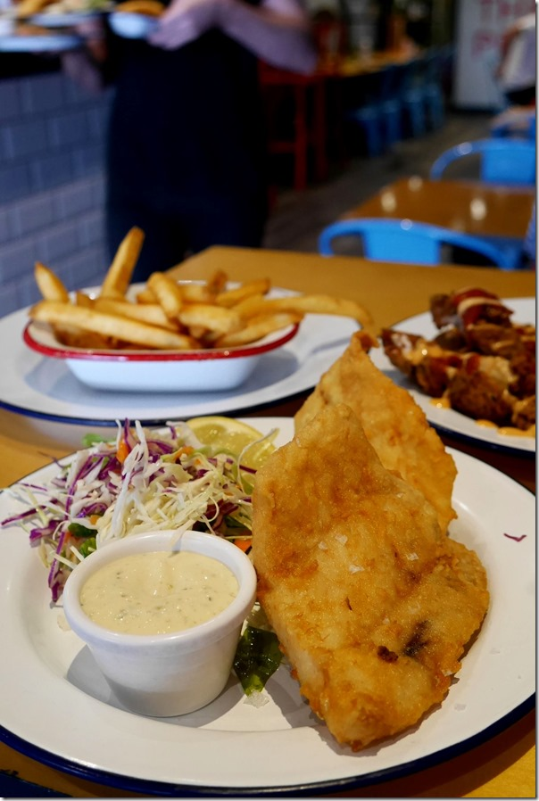 Battered fish 'N' chips $13