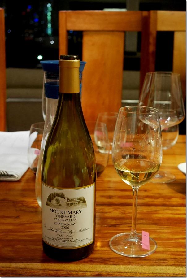 Wine #1: 2006 Mount Mary chardonnay