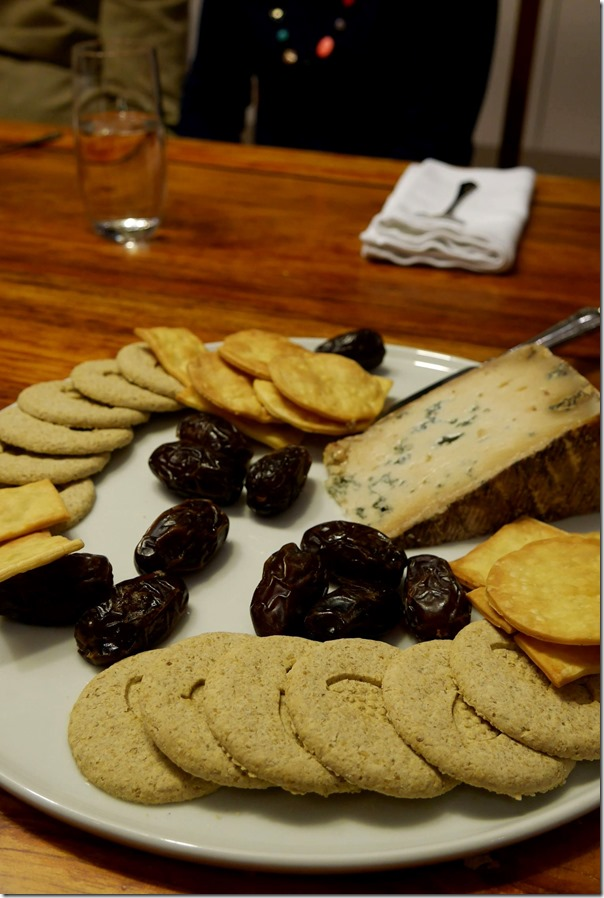 After-dinner date and cheese plate