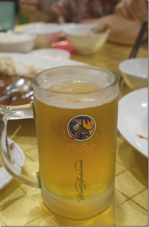 Carlsberg in Tiger mug $S5.30