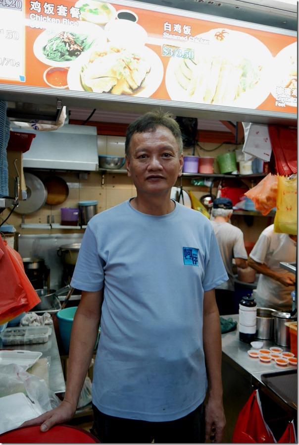 Proprietor Ah Tai, Ah Tai Hainanese Chicken Rice, Maxwell Food Centre
