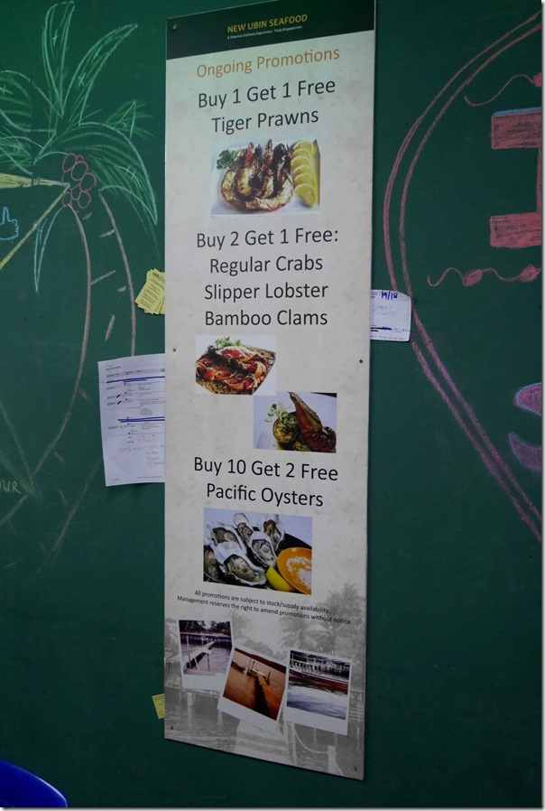 Food promotions on the wall