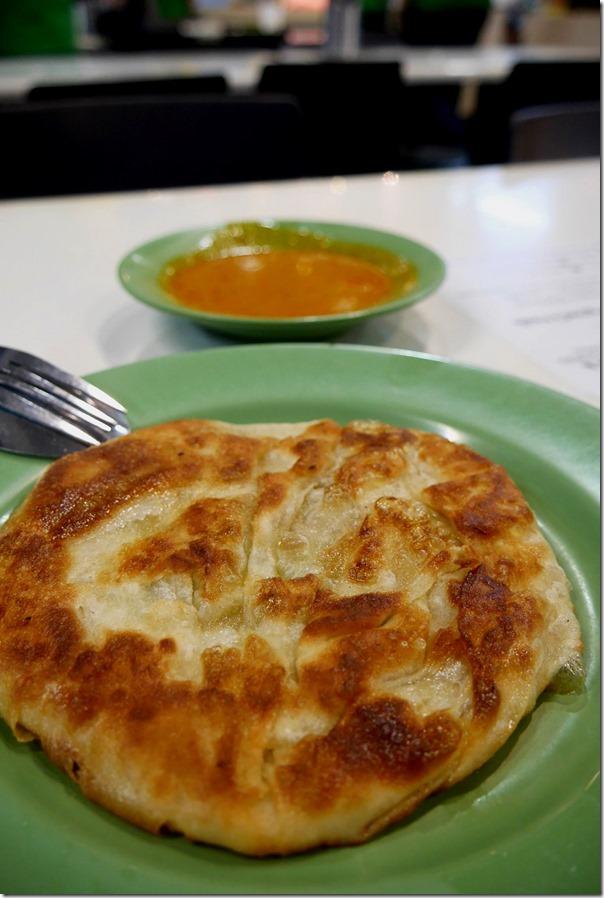 Roti prata with fish curry sauce $S1.20
