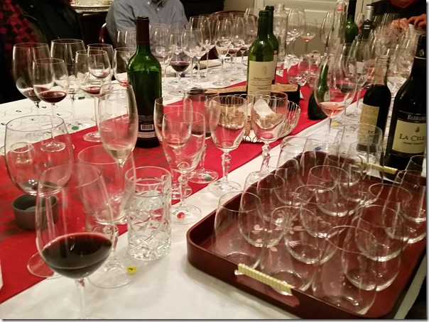 The tasting table where wines are sniffed, twirled and scrutinized