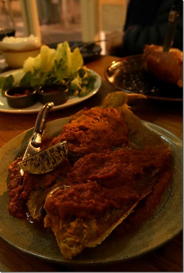 Sambal flounder $32