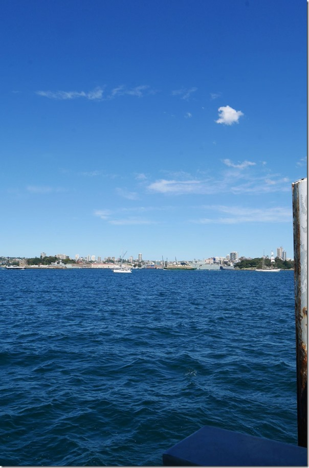 View from the pontoon of Kirribilli ferry wharf