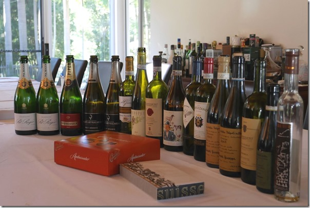 The line-up of wines tasted for our Italian Fiesta