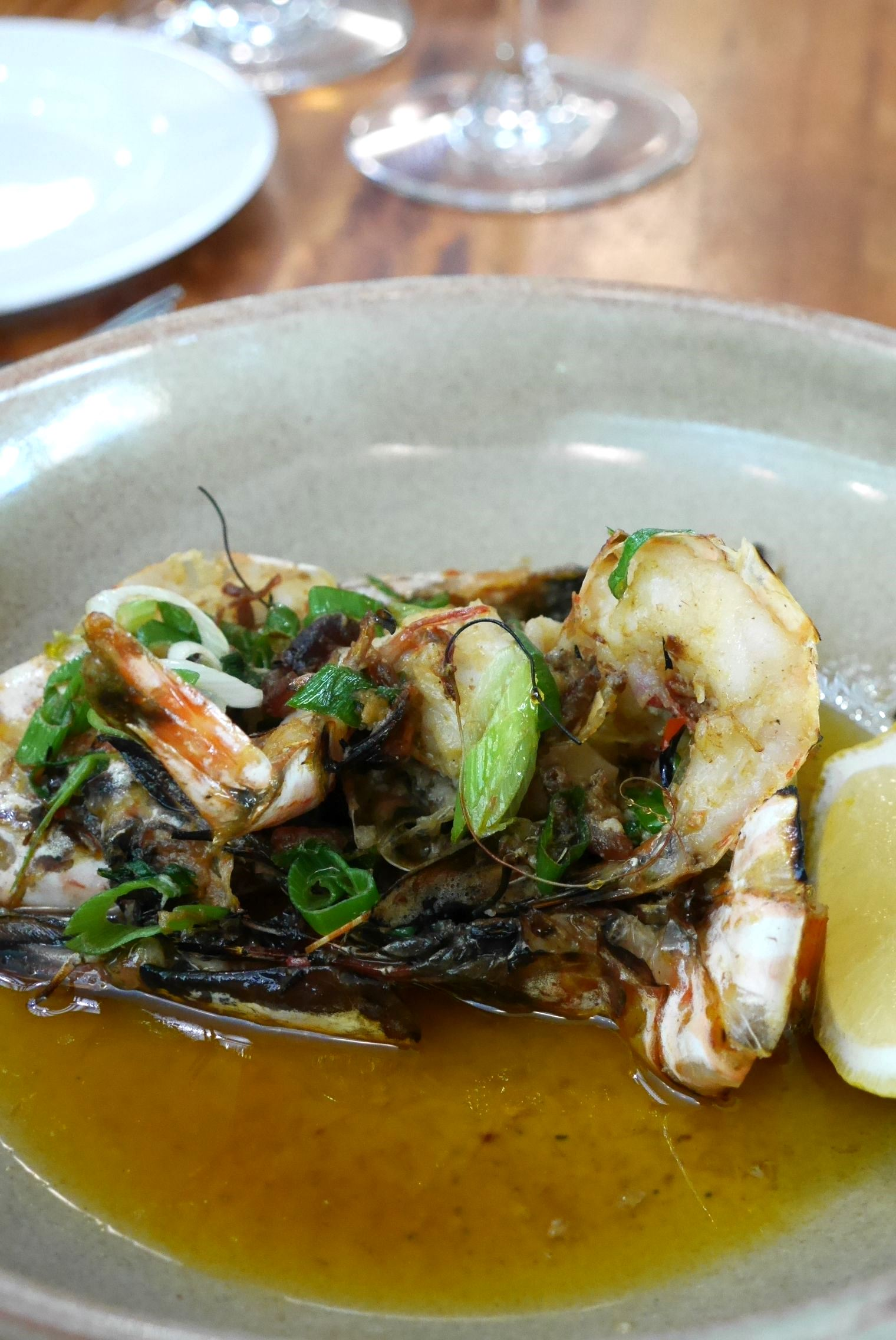 Split barbeque North West prawns, xo butter $25